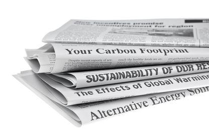 Des journaux qui consacrent leur une aux questions environnementales