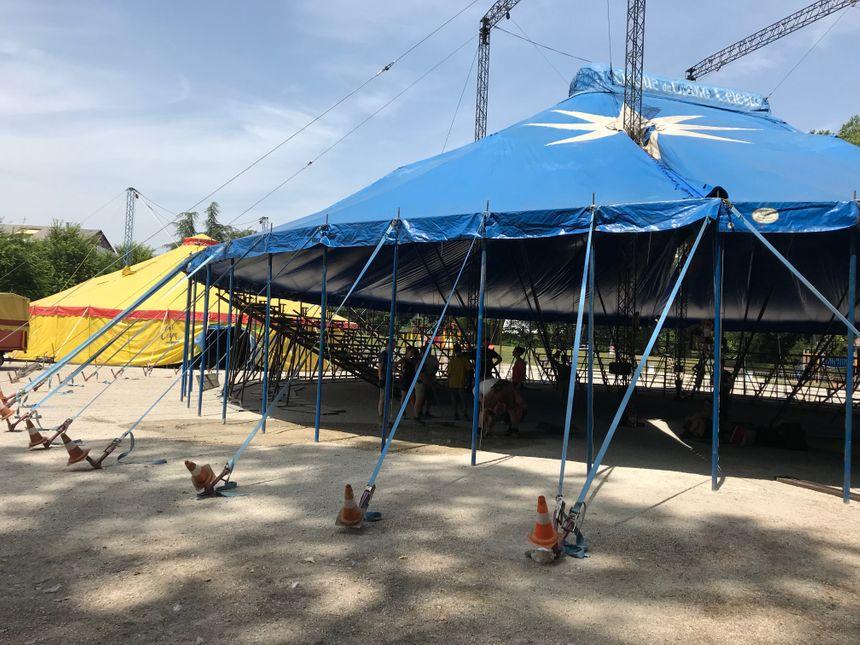 """Le festival """"Cirq'ule"""" se tiendra sous un chapiteau dans le parc de Rond Buisson à Chambéry."""