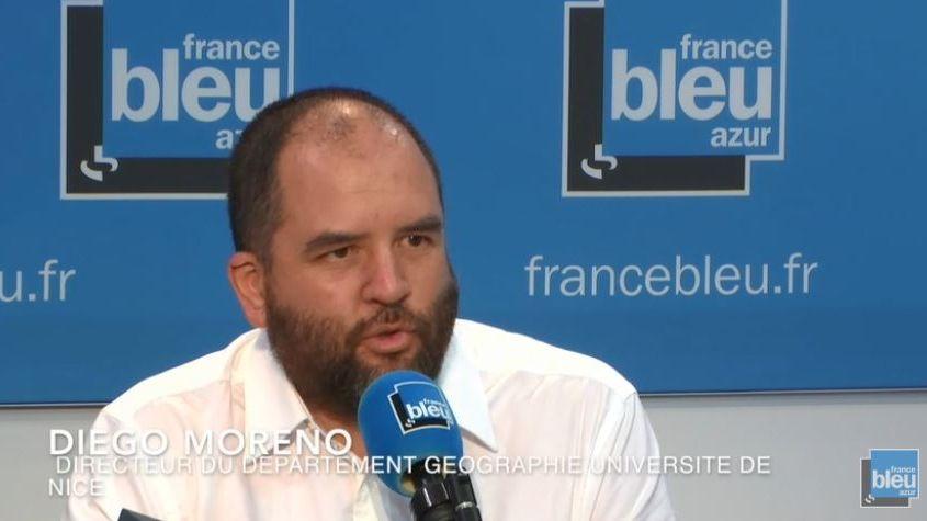 Diego Moreno,  directeur du département de Géographie à l'Université de Nice