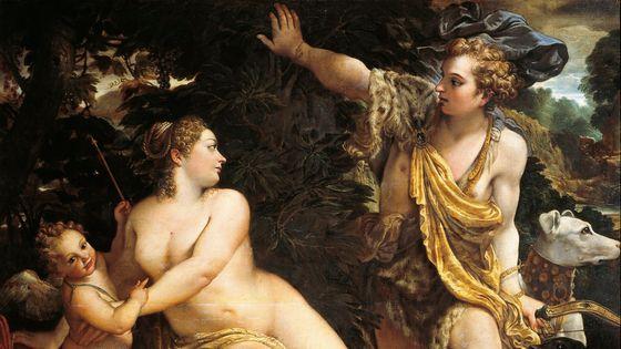 Vénus et Adonis par Annibale Carracci (1560-1609) -  1683, John Blow : Création de Vénus et Adonis/ Musicopolis Collection : De Agostini
