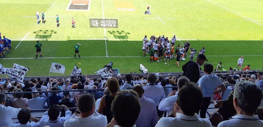 A l'heure de jeu le public briviste commence à y croire alors que Brive mène 21-12 sur sa pelouse.