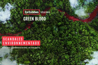 Green Blood Capture d'écran du site forbidden stories
