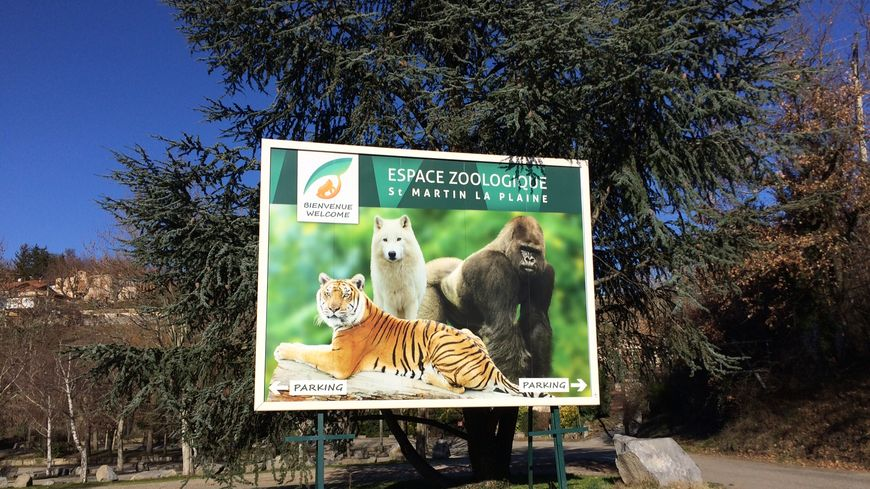L'entrée du parc zoologique de Saint Martin la Plaine