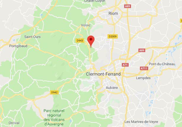 L'accident s'est produit sur la RD943 à hauteur de Sayat (Puy-de-Dôme)