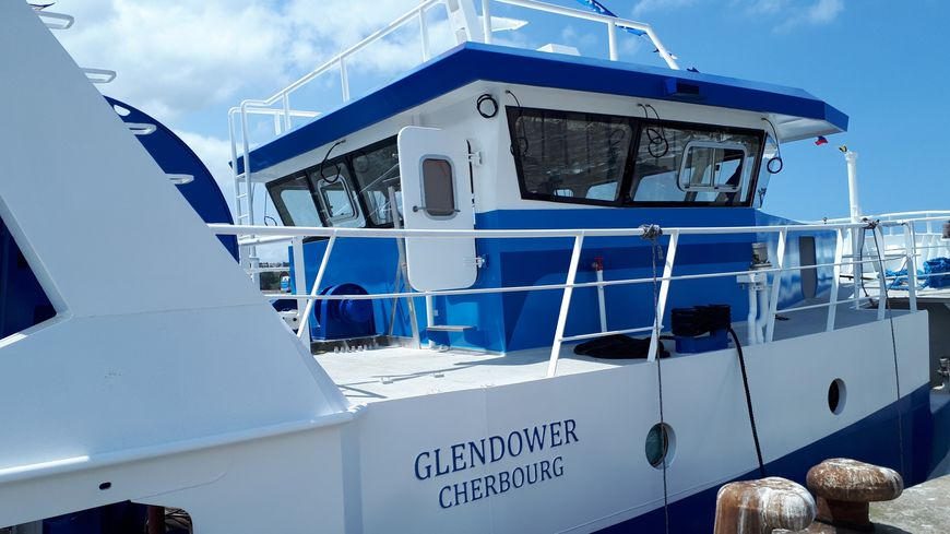 """Le """"Glendower"""", chalutier de 16 mètres fabriqué par le chantier dieppois MIM"""