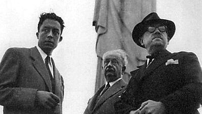 Albert Camus devant le Christ Corcovado