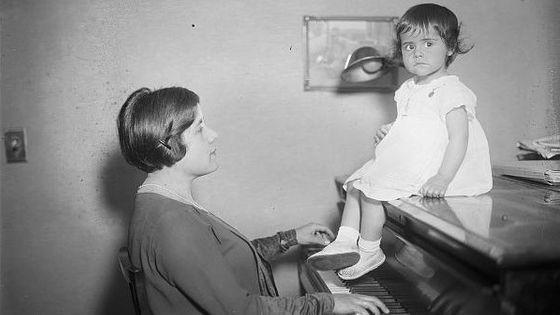 Guiomar Novaes et sa fille en 1922