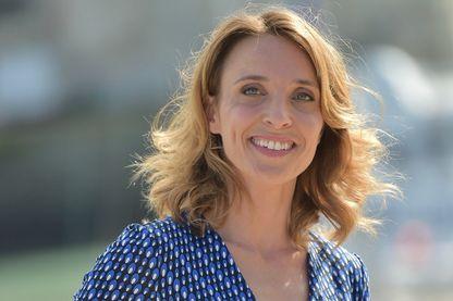 L'actrice, Alix Poisson au festival de la Fiction de la Rochelle le 14 septembre 2018.