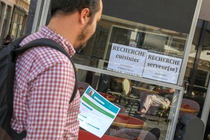 A Lille en septembre 2018, recrutement dans la restauration