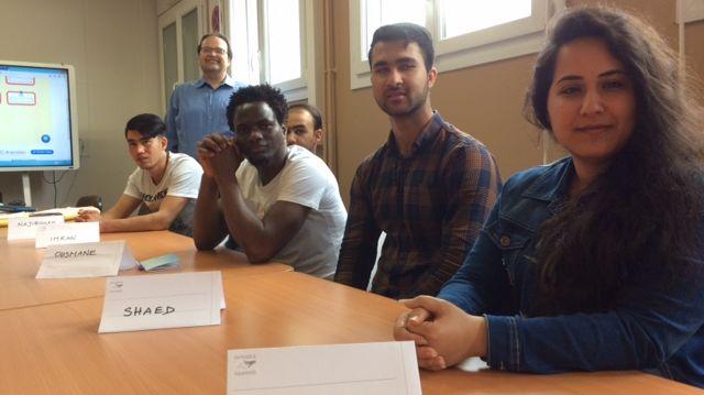 Shaed, Dalya, Jihan, et Ousmane, des réfugiés avides d'apprendre le français pour attaquer au plus vite leur parcours d'insertion professionnelle