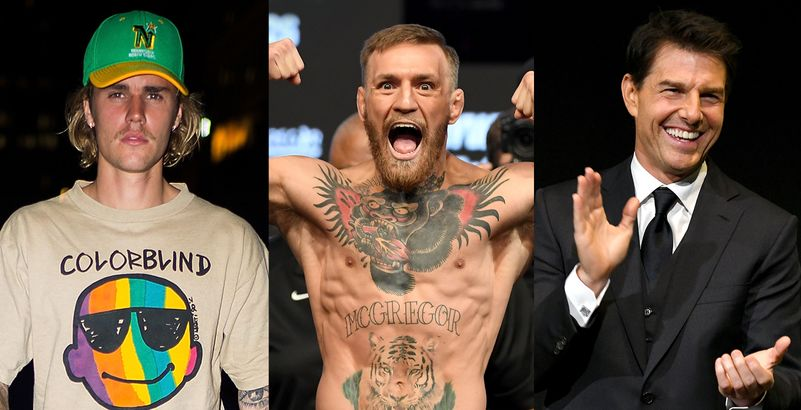 Conor McGregor est chaud pour organiser le combat Justin Bieber vs Tom Cruise