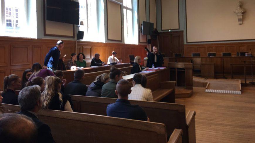 La salle d'audience du tribunal correctionnel de Reims