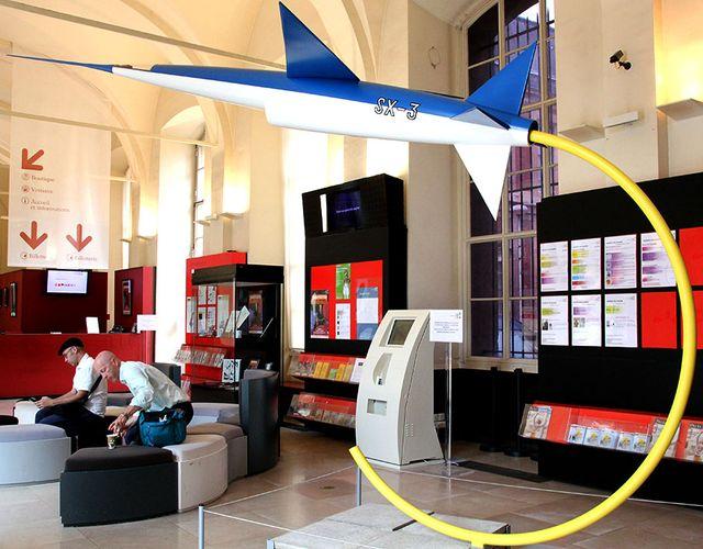 Reproduction de L'Espadon au Musée des Arts et Métiers à Paris dans l'exposition Scientifiction