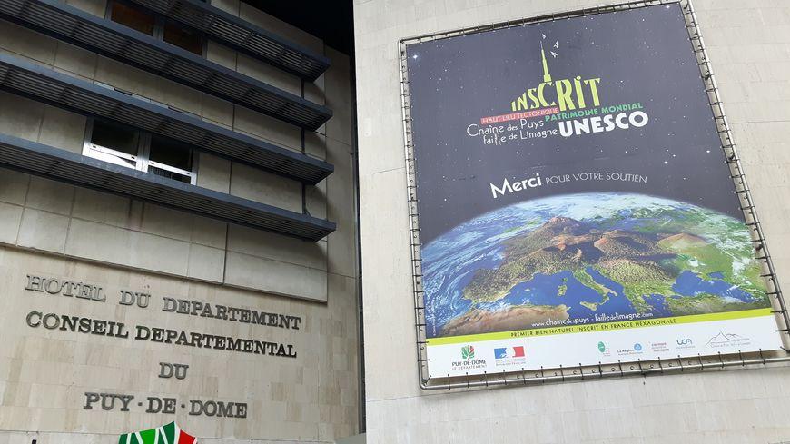 La façade du Conseil Départemental du Puy-de-Dôme