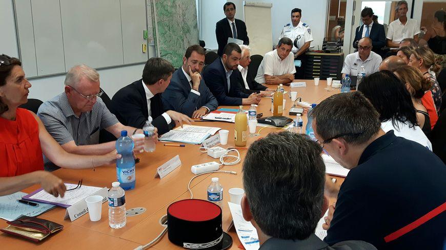 Le ministre Christophe Castaner participe au Centre Opérationnel Départemental
