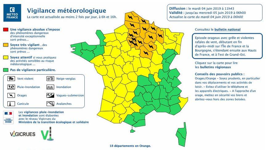 l'Ile-de-France placé en vigilance orange aux orages