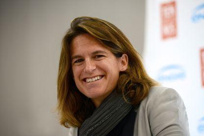 Amélie Mauresmo en novembre 2016 à Bercy pour la Fed Cup