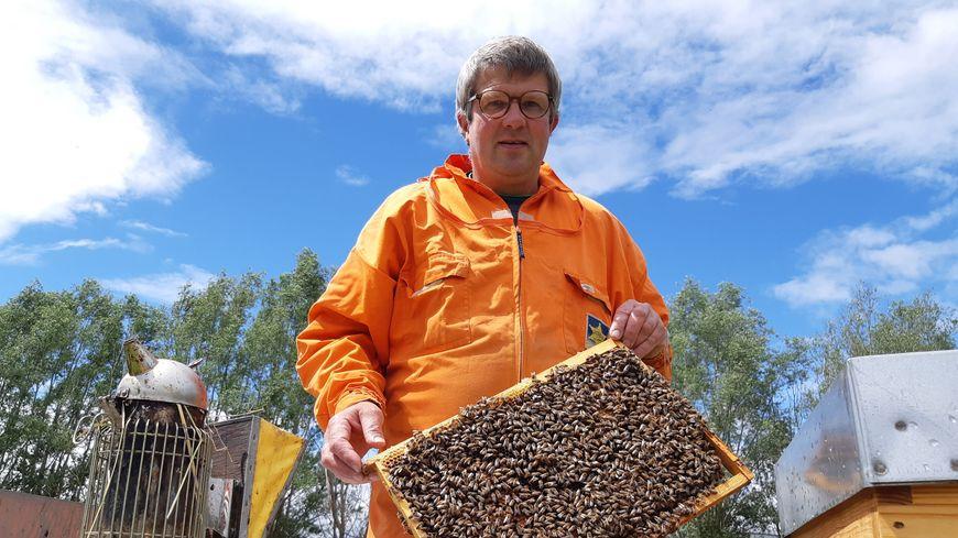 Yvon Hennion est apiculteur à Halluin, près de Lille