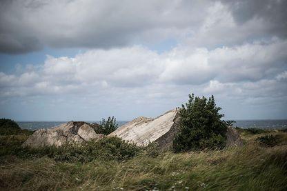 Bunker allemand à la Pointe du Hoc en 2014