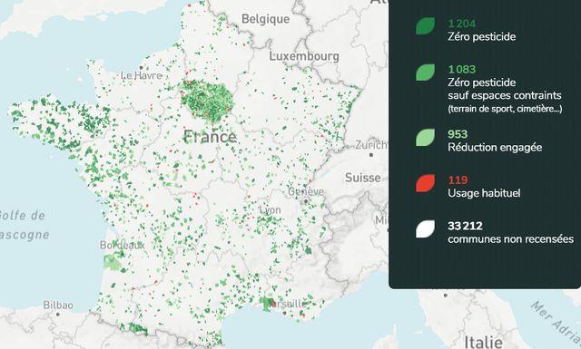 Un site recense 1204 communes qui ne pulvérisent plus de pesticides chimiques dans les espaces publics.