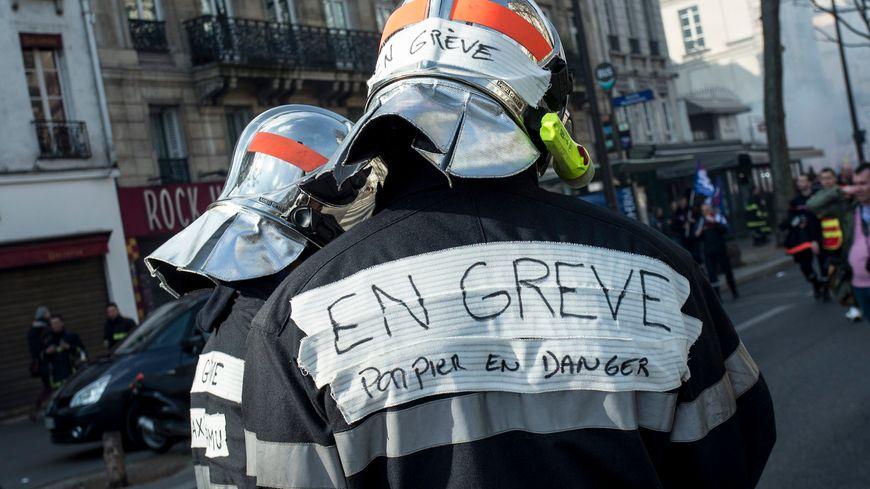 image d'illustration (manifestation de pompiers à Paris)