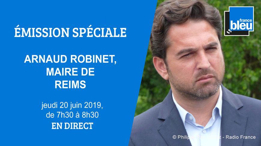 Arnaud Robinet, invité spécial de France Bleu Champagne-Ardenne.