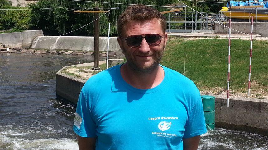 Renaud Mary, responsable du stade en eaux vives de Châteauneuf sur Cher