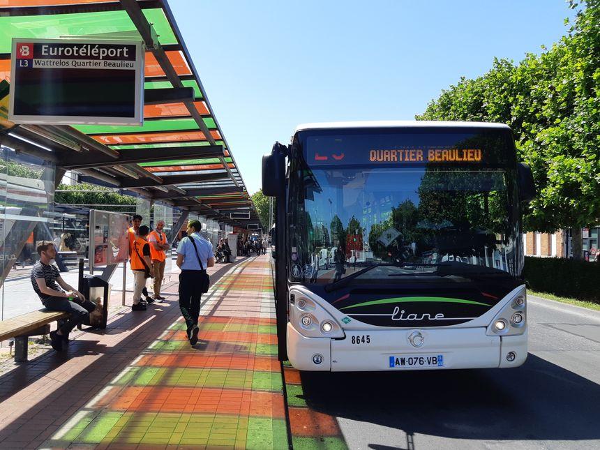 Eurotéléport, en face du centre commercial Mac Arthur Glen, à Roubaix, est l'actuel terminus du tramway