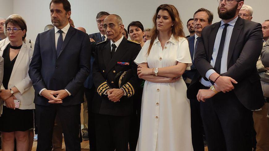Le ministre de l'Intérieur et la Sarthoise Marlène Schiappa, secrétaire d'Etat chargée de l'égalité femmes-hommes, ont inauguré ce lundi le nouveau commissariat du Mans.