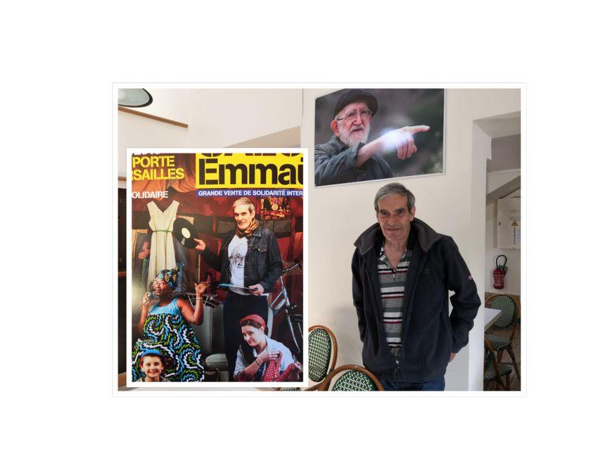 Michel, membre de la communauté d'Emmaüs à Bougival, a été choisi pour apparaître sur l'affiche du salon porte de Versailles.