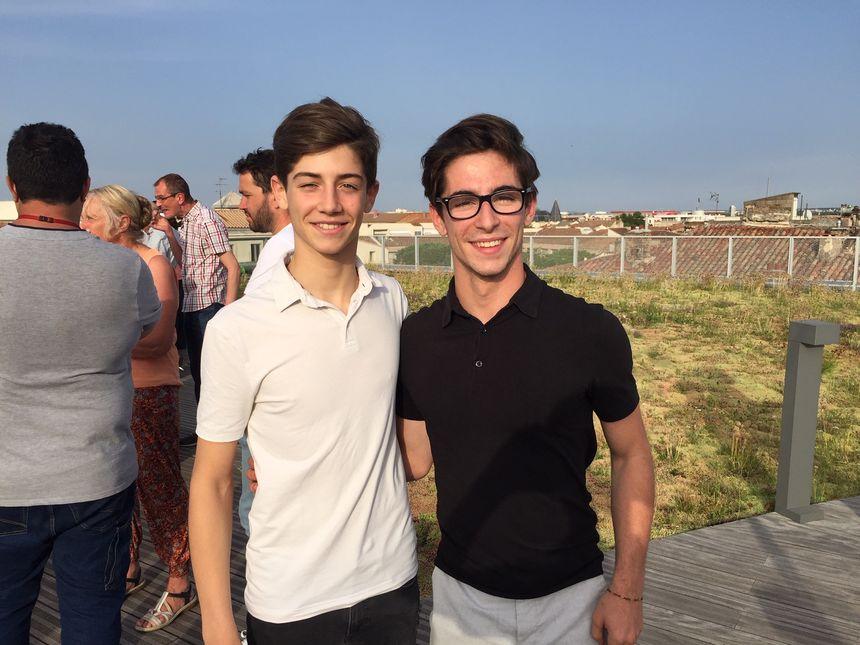 Les frères Gauthier et Enzo Giorgi