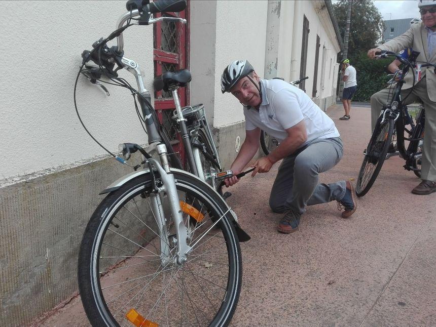 Guy Lefrand, lors du test du plan vélo, en juillet 2018