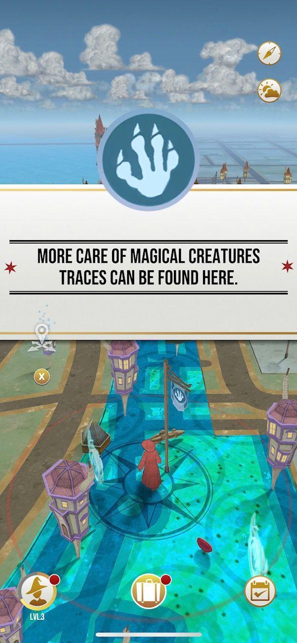 L'interface de Harry Potter Wizars Unite vous rappellera celle du jeu Pokémon GO !