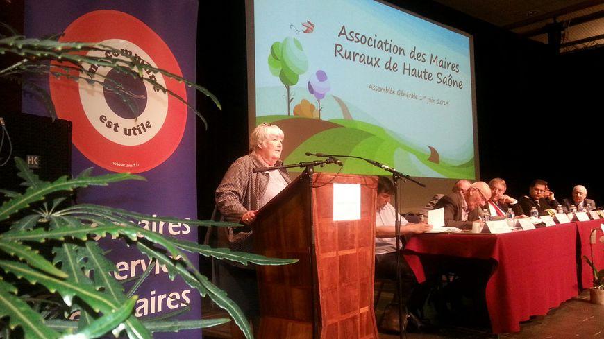 A la tribune, la ministre de la Cohésion des territoires Jacqueline Gourault a détaillé les mesures de l'Etat pour lutter contre la désertification médicale.