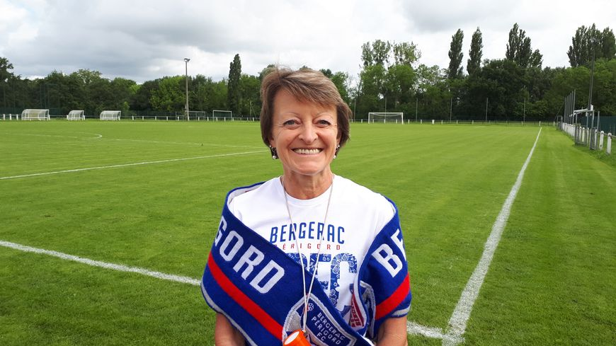 Sylvie Merlos supportrice du Bergerac FC