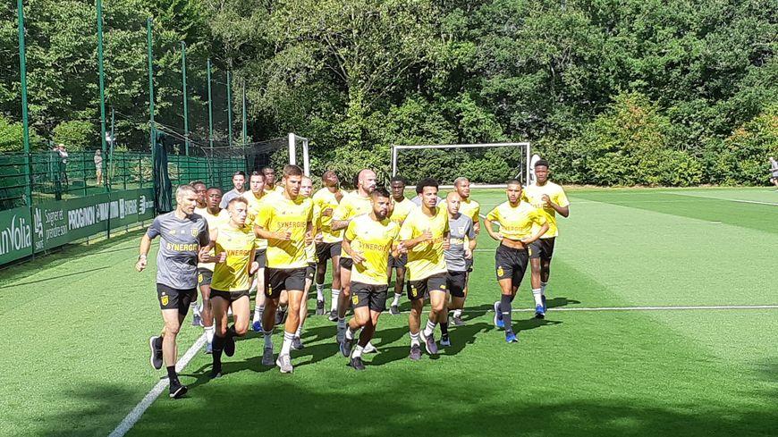Les joueurs du FC Nantes ont repris le chemin de l'entrainement, ce mercredi à la Jonelière.