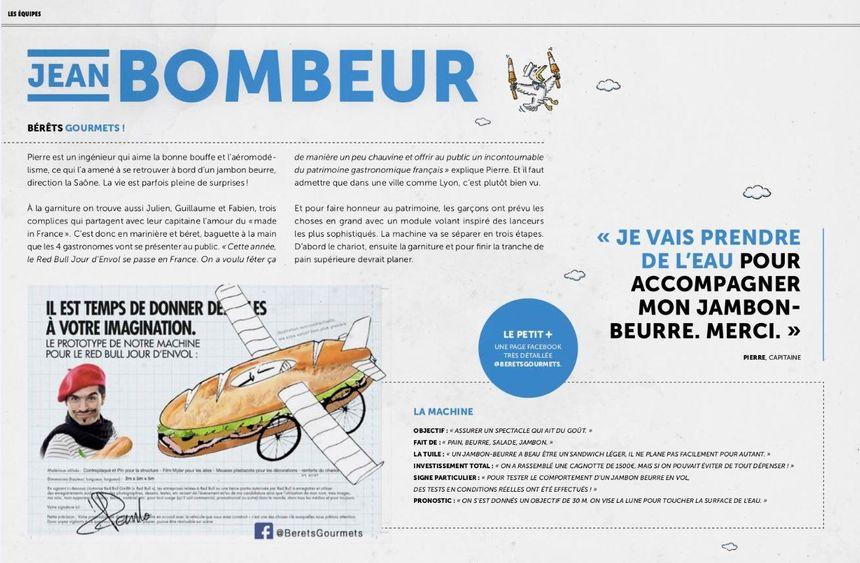 La présentation du prototype Jean Bombeur
