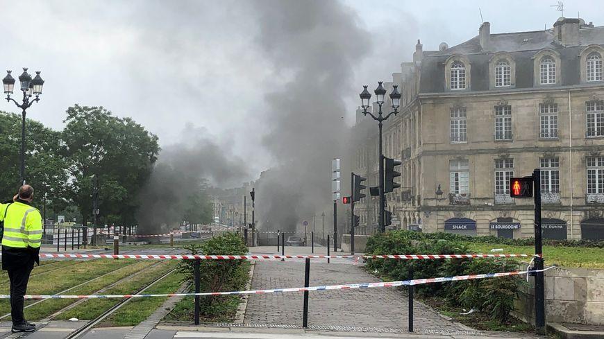 L'incendie du parking des Salinières