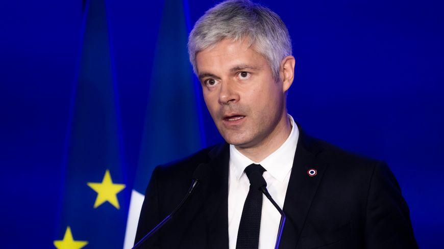 Laurent Wauquiez lors de l'annonce des résultats des élections européennes.