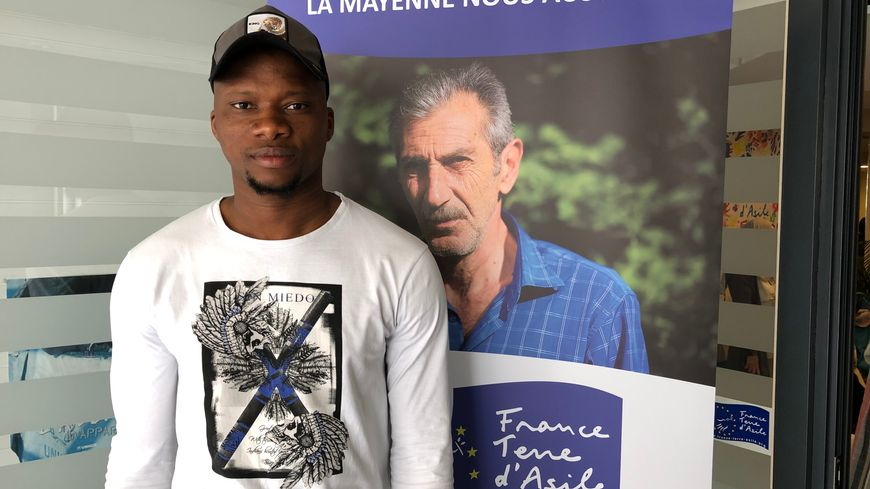 Mohamed, 26 ans, vient de Guinée-Conakry et a trouvé refuge en Mayenne en janvier 2018.