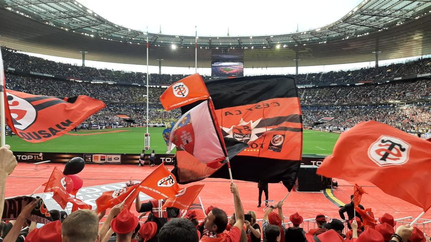 Les supporters du Stade Toulousain sont nombreux à avoir fait le voyage à Paris