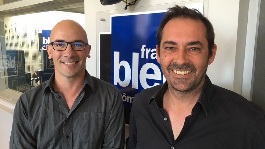 """Cédric Wartel (à gauche) et Julien Ferrero, responsables de la start-up """"Liebearth""""."""