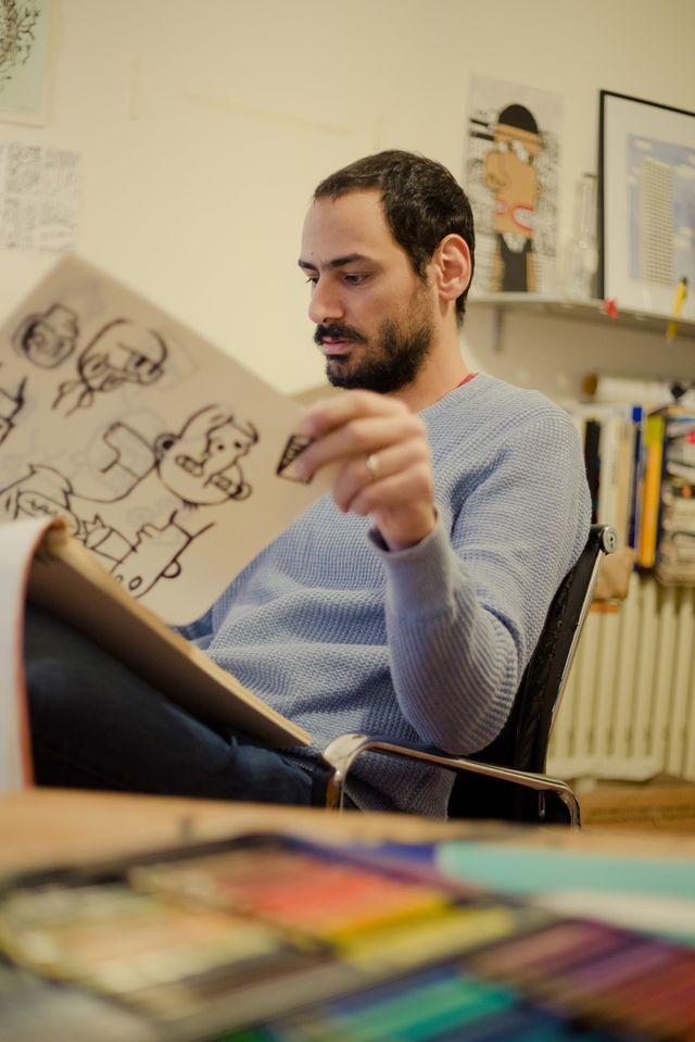 """Mazen Kerbaj auteur de """"Politique"""", (Actes Sud)"""