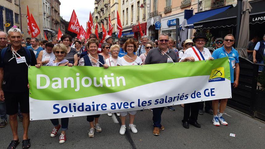 La commune de Danjoutin affiche son soutien aux salariés de General Electric.