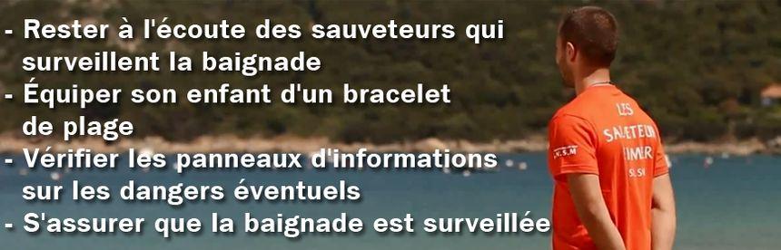 Conseils SNSM sur les plages