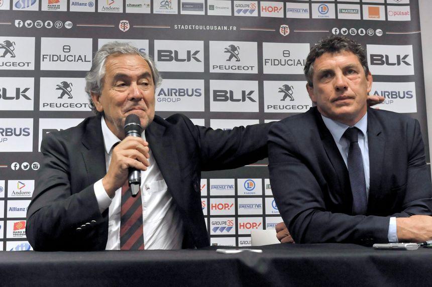René Bouscatel avec son successeur Didier Lacroix