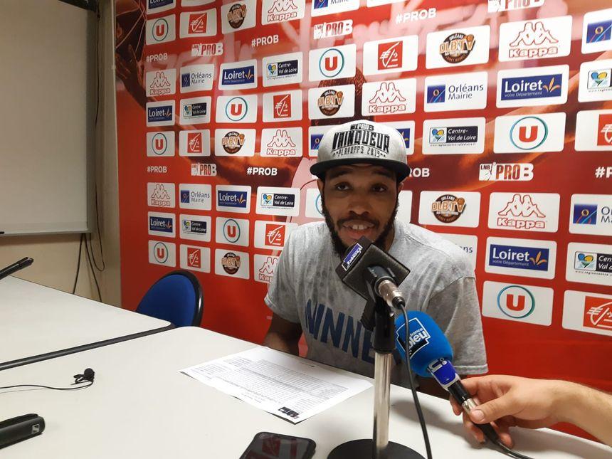 """Brandon Jefferson, juste après le match : """"je veux rester à Orléans la saison prochaine"""""""