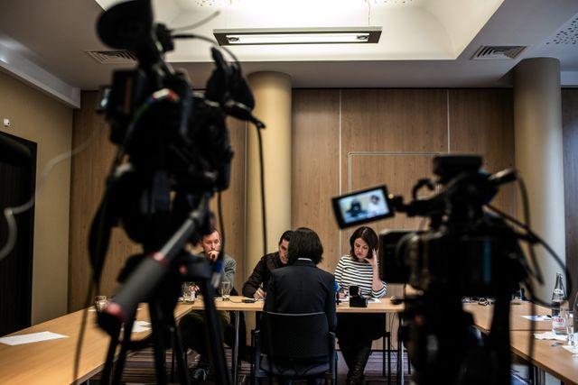 Grace Meng, à Lyon, lors de sa rencontre avec des journalistes, le 7 octobre 2018.
