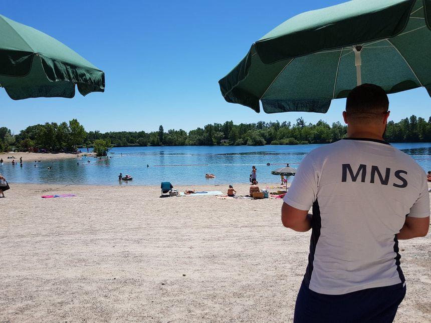 Deux à trois maîtres-nageurs vont être mobilisés cet été pour surveiller l'espace baignade de la Ballastière, à Bischheim.