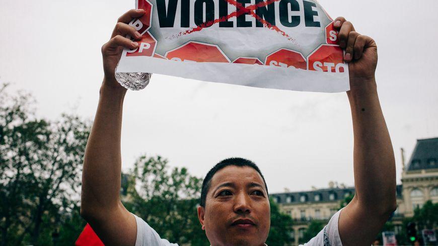 Manifestation à Paris de la communauté asiatique. 05.09.16